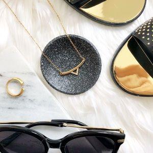 Rebecca Minkoff Gold Triangle Pendant Necklace
